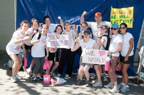 Members of Team Natalie at the 2011 NYC Schlep 5K Run/Walk
