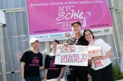 Team Natalie receiving a fundraising award at the 2011 NYC Schlep 5K Run/Walk