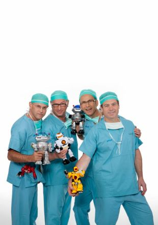 The RMC doctors who have successfully utilized the robotic surgical system in new and innovative ways.