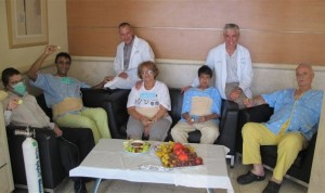 Organ transplant patients at Rabin Medical Center