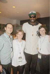 NBA Player Amar'e Stoudemire with the Rabin Medical Center Exchange Fellows