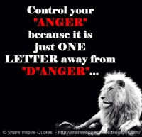 Anger can lead to Danger
